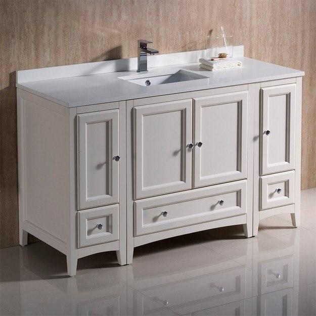Design Element Dec082d W London 54 Inch Single Sink Vanity In White