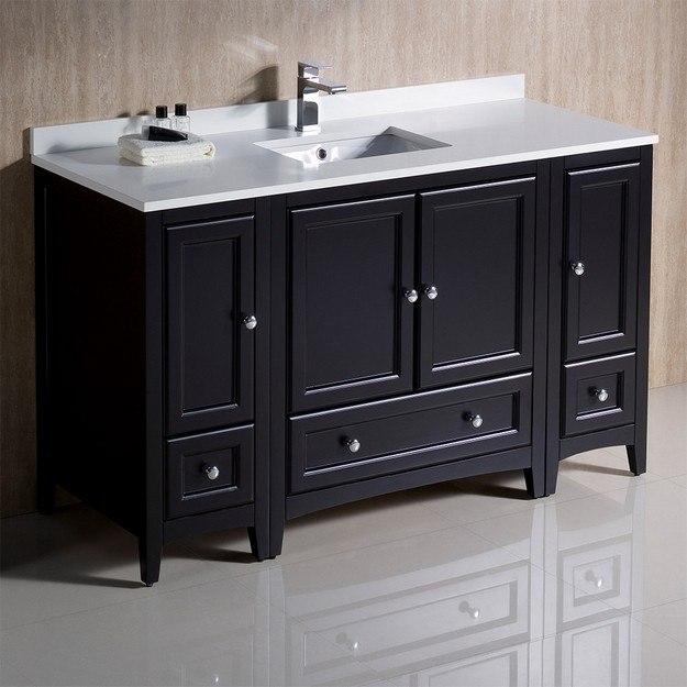 Fresca Fcb20 123012es Cwh U Oxford 54 Inch Espresso Traditional Bathroom Cabinets With Top And Sink