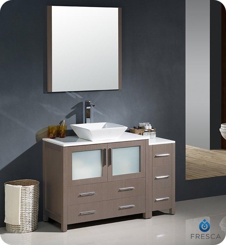 Fresca FST6260GO Torino Gray Oak Tall Bathroom Linen Side Cabinet