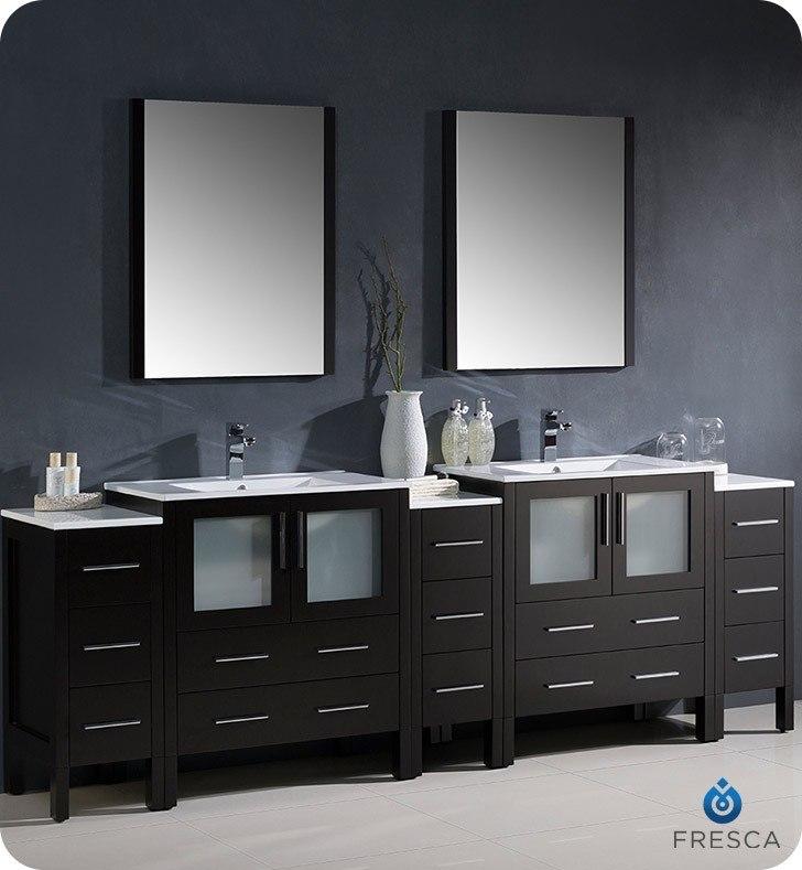 Fresca FST6260ES Torino Espresso Tall Bathroom Linen Side Cabinet