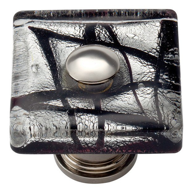 Atlas 3207-CH Glass Collection 1-1/2 Inch Polished Chrome Eclipse Square Knob