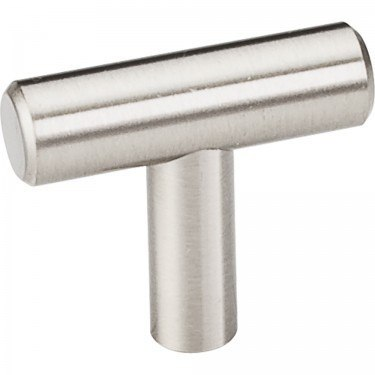 HARDWARE RESOURCES 39SS ELEMENTS NAPLES COLLECTION 1-1/2 INCH OVERALL LENGTH HOLLOW STAINLESS STEEL BAR CABINET KNOB