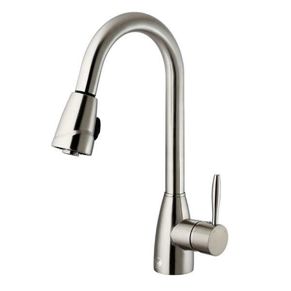 VIGO VG02014ST Stainless Steel Pull-Out Spray Kitchen Faucet