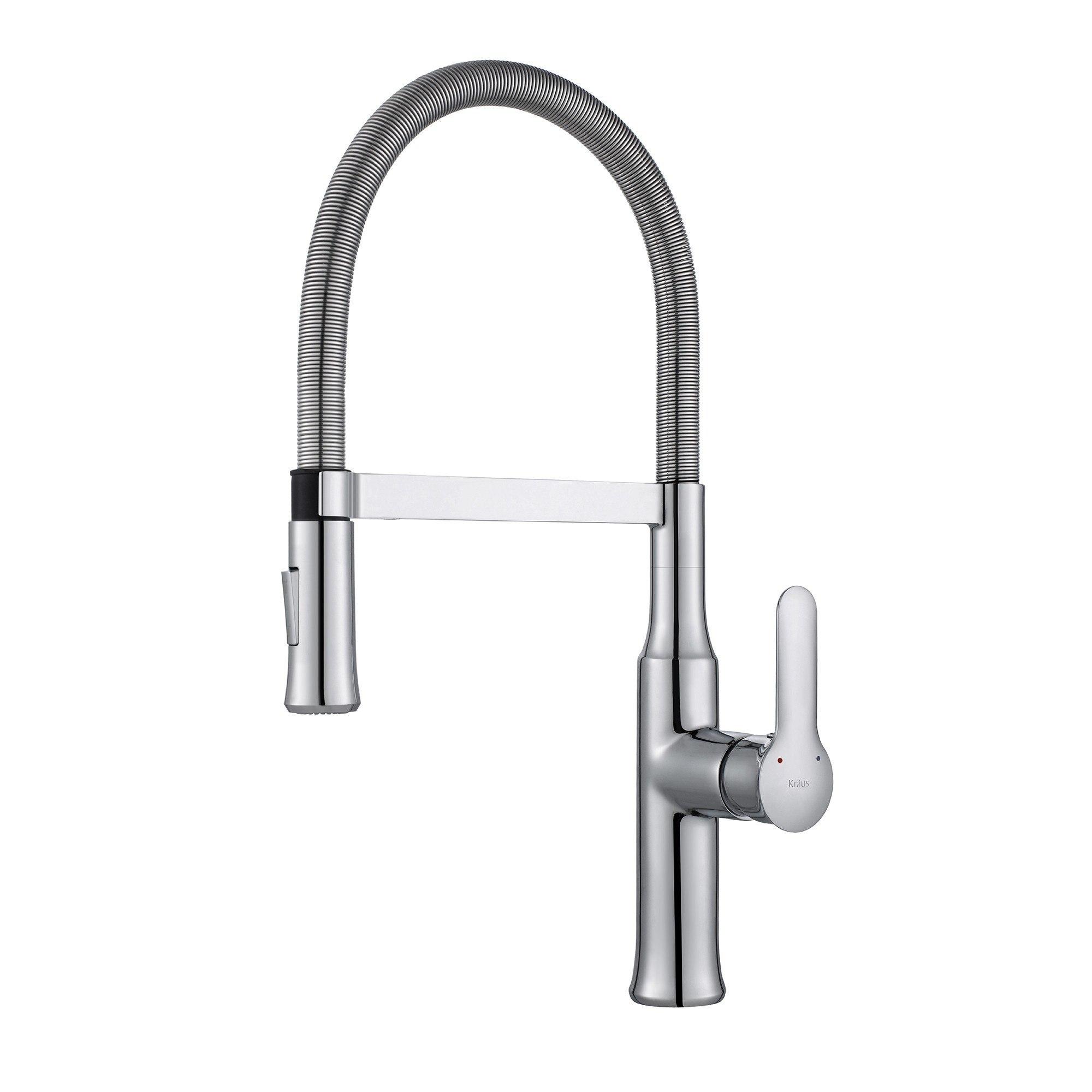 Kraus KPF-1640 Nola Single Lever Flex Commercial Style Kitchen Faucet