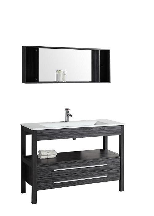 Bosconi A-5243 48 Inch Single Vanity in Charcoal Gray Finish