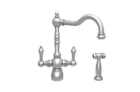 Whitehaus WHEG-34654 Englishhaus Dual Lever Handle Faucet with Traditional Swivel Spout