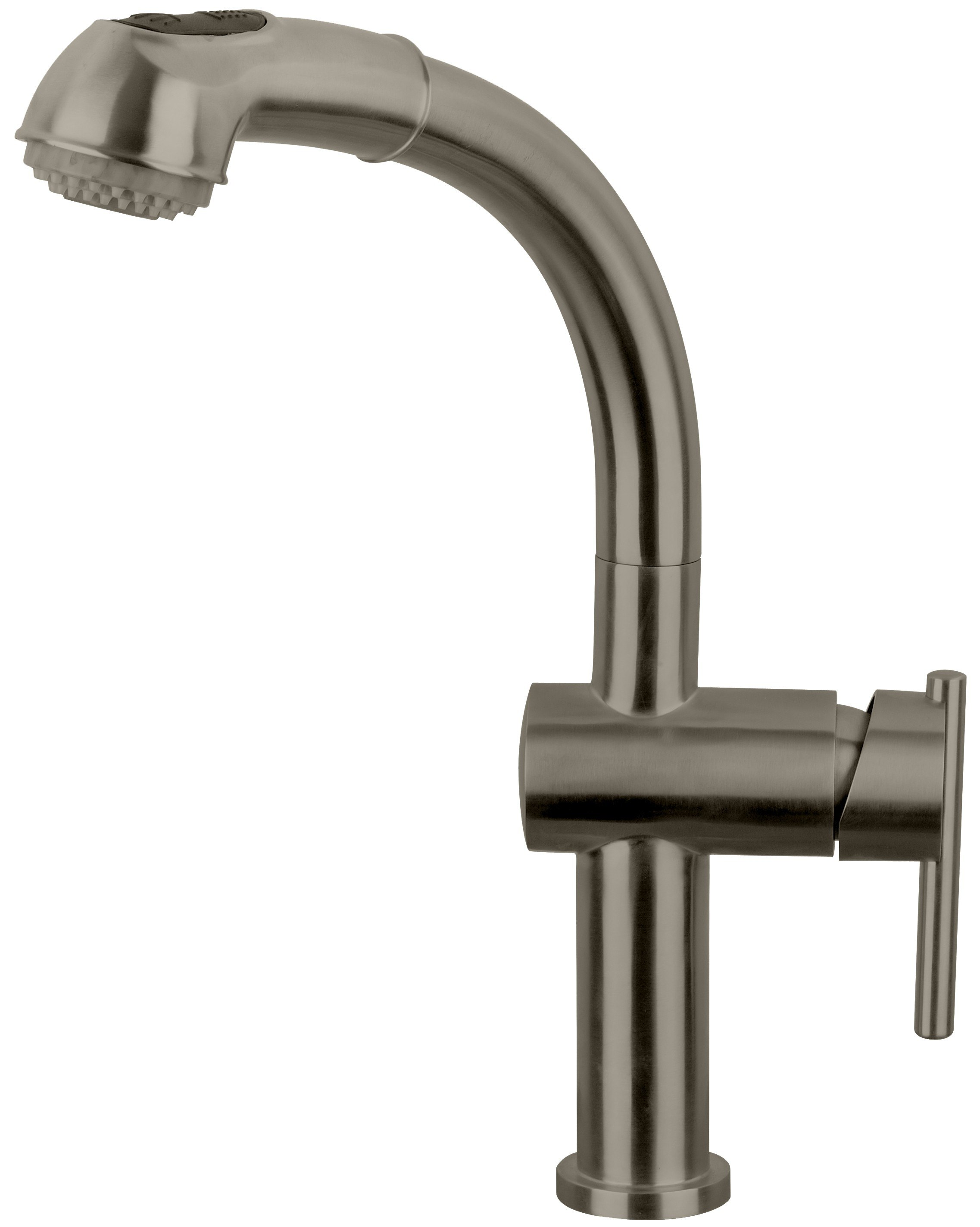 WHITEHAUS WHS1991-SK-BSS WATERHAUS LEAD FREE, SINGLE-HOLE FAUCET WITH PULL OUT SPRAY HEAD