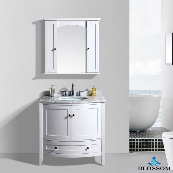 Blossom 002 36 01 Rome 36 Inch Vanity Set With Mirror And Wall