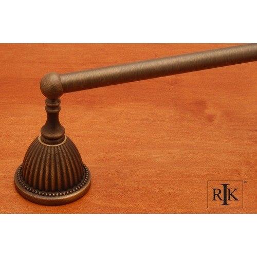 RK International BEAE 3 30 Inch Beaded Bell Base Single Towel Bar