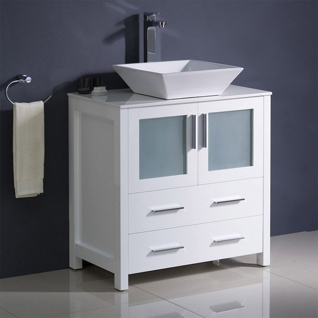 Fresca Fcb6230wh Cwh V Torino 30 Inch, 30 Wide Bathroom Vanity