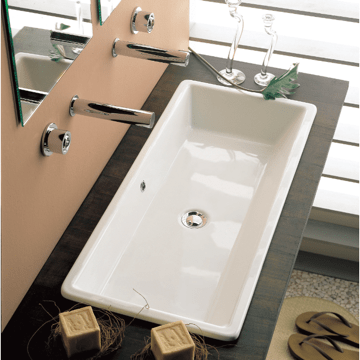 SCARABEO 8033 GAIA 34.5 INCHES BATHROOM SINK