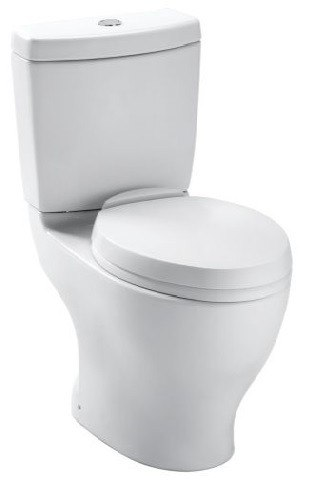 Toto CST412MF.10#01 Aquia Two Piece Elongated Toilet, 1.6 GPF & 0.9 GPF, 10 Inch Rough-in with Dual Max Flush System Less Seat