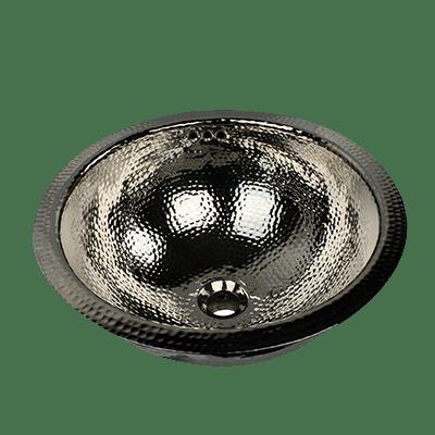 Nantucket Sinks RLN-OF 16-1/2 Inch Brass Hammered Brightwork Single Bowl Sink