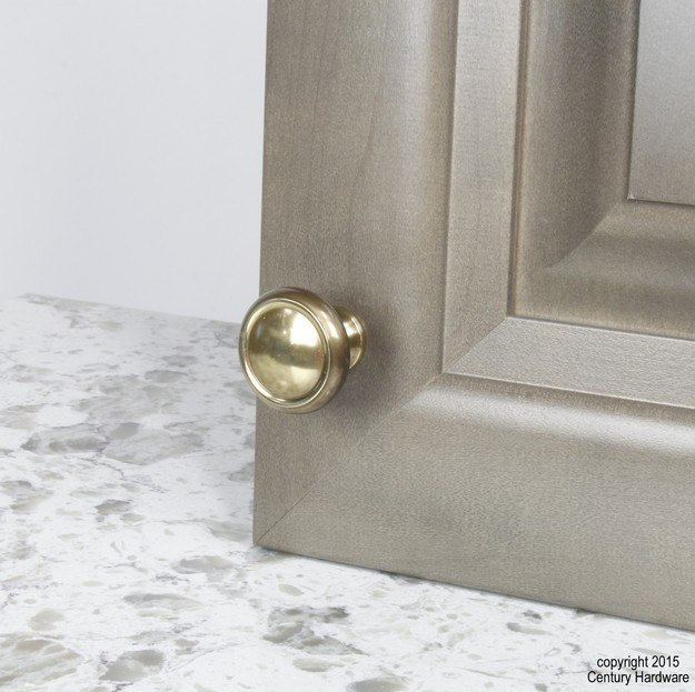 Century Hardware 11626 Plymouth Collection Solid Brass Knob 1-1/4 Inches Diameter