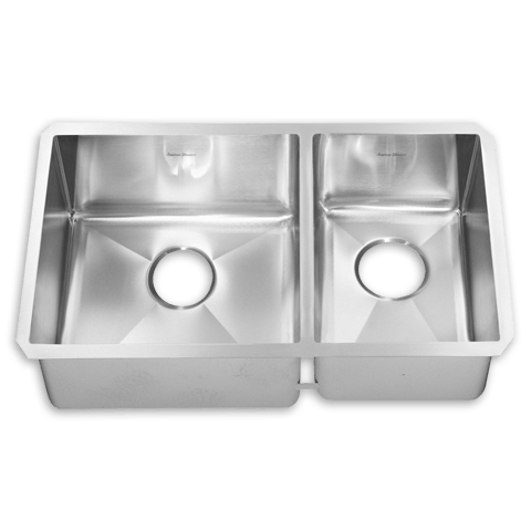 American Standard 12CR.261800.290 Prevoir Stainless Steel Undermount 26  x 18 Inch 2-Bowl Combo Kitchen Sink