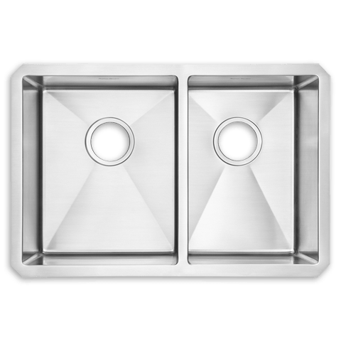 American Standard 12CR.281800 Prevoir Stainless Steel Undermount 28 x 18 Inch 2-Bowl Combo Kitchen Sink