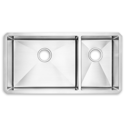 American Standard 12CR.361800 Prevoir Stainless Steel Undermount 35 x 18 Inch Combo 2-Bowl Kitchen Sink