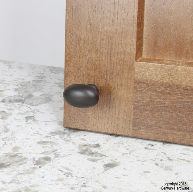 Century Hardware 13117 Plymouth Collection Solid Brass Knob 1-3/8 Inches Diameter