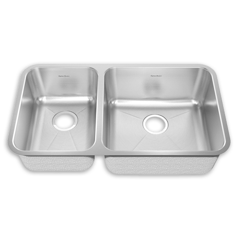 American Standard 14CL.331900 Prevoir Stainless Steel Undermount 32-7/8 x 18-3/4 Inch 2-Bowl Combo Kitchen Sink