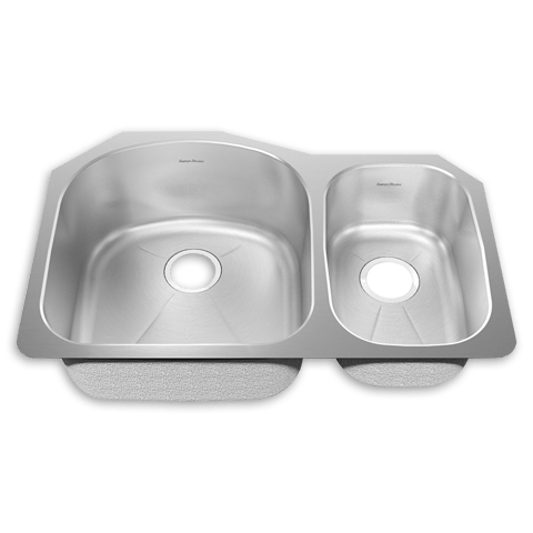 American Standard 14CR.322100 Prevoir Stainless Steel 31-1/2 x 20-5/8 Inch 2-Bowl Combo Kitchen Sink