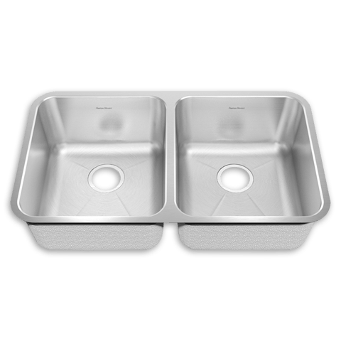 American Standard 14DB.331900 Prevoir Stainless Steel Undermount 32-7/8 x 18-3/4 Inch 2-Bowl Crease Bottom Kitchen Sink