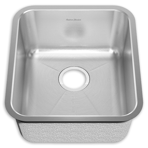 American Standard 14SB.191700 Prevoir Stainless Steel Undermount 16-3/4 Inch x 18-3/4 Inch 1-Bowl Kitchen Sink