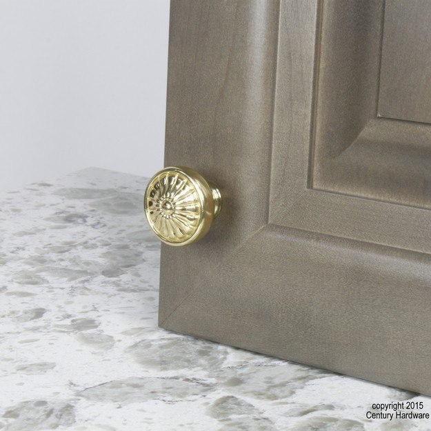 Century Hardware 15326 Hartford Collection Solid Brass Knob 1-1/4 Inches Diameter