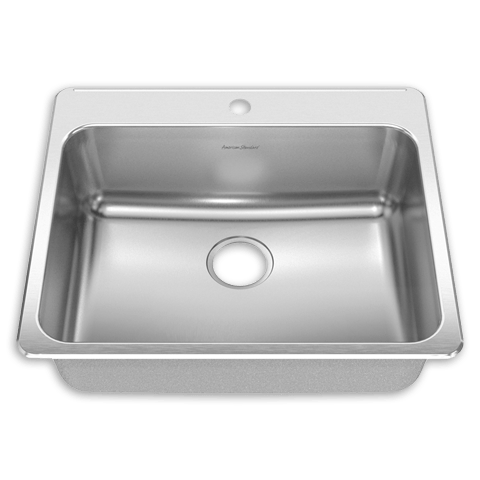 American Standard 15SB.252211 Prevoir Stainless Steel Drop-In 25-1/4 Inch x 22 Inch 1-Bowl Kitchen Sink