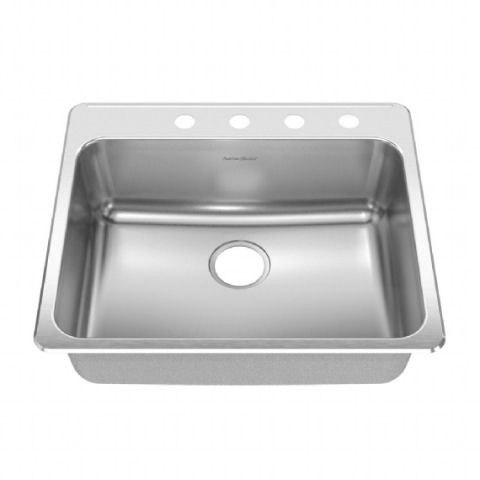 American Standard 15SB.252284 Prevoir Stainless Steel Drop-In 25-1/4 x 22 Inch 1-Bowl Kitchen Sink