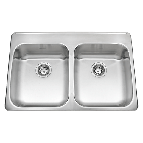 American Standard 24DB.332284.290 Prevoir ADA Double Bowl 33 Inch 18 Gauge Kitchen Sink