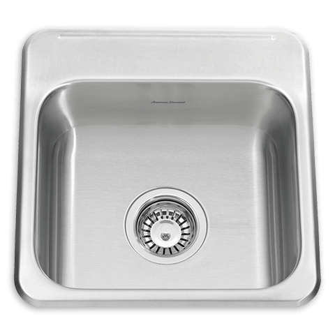 American Standard 24SB.151511.290 Prevoir ADA Single Bowl 15 Inch 18 Gauge Kitchen Sink