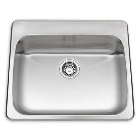 American Standard 24SB.252211.290 Prevoir ADA Single Bowl 25 Inch 18 Gauge Kitchen Sink