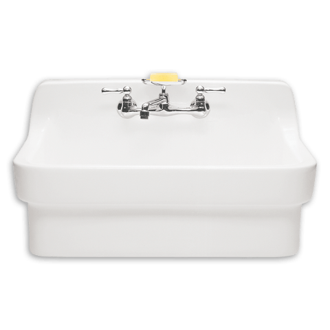 American Standard 9062.008 Country Base-Mounted Vitreous China 30 inch 2-Hole Single Bowl Kitchen Sink in White