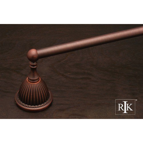RK International BEDC 3 30 Inch Beaded Bell Base Single Towel Bar