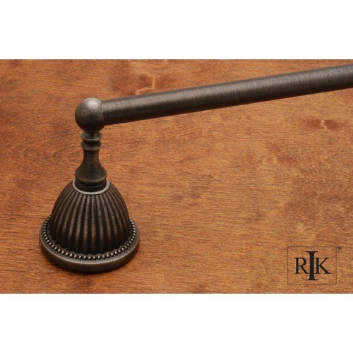 RK International BEDN 2 24 Inch Beaded Bell Base Towel Bar