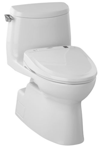 TOTO MW614584CUFG#01 Carlyle II 1G Connect+ S350e One-Piece Toilet, 1.0 GPF with SanaGloss