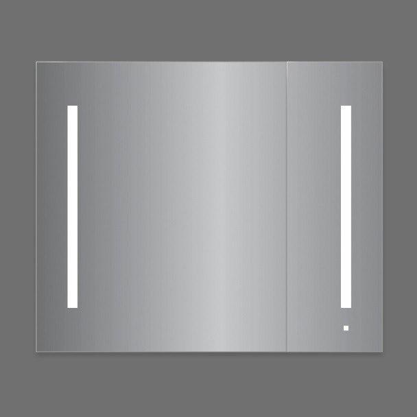Robern AC3630D4P2L Aio Series 35-1/4 Inch Flat Plain Two Doors Mirror Cabinet