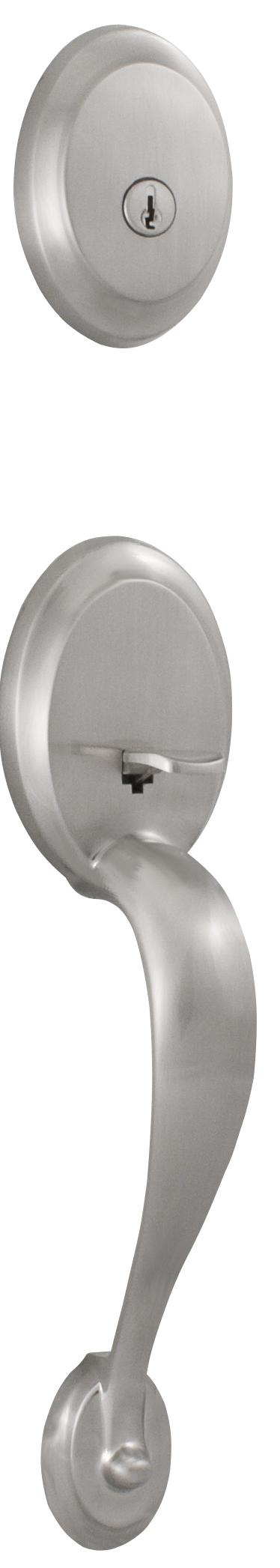 Weslock 00351 Traditionale Oval Series Single Cylinder Entry Handleset