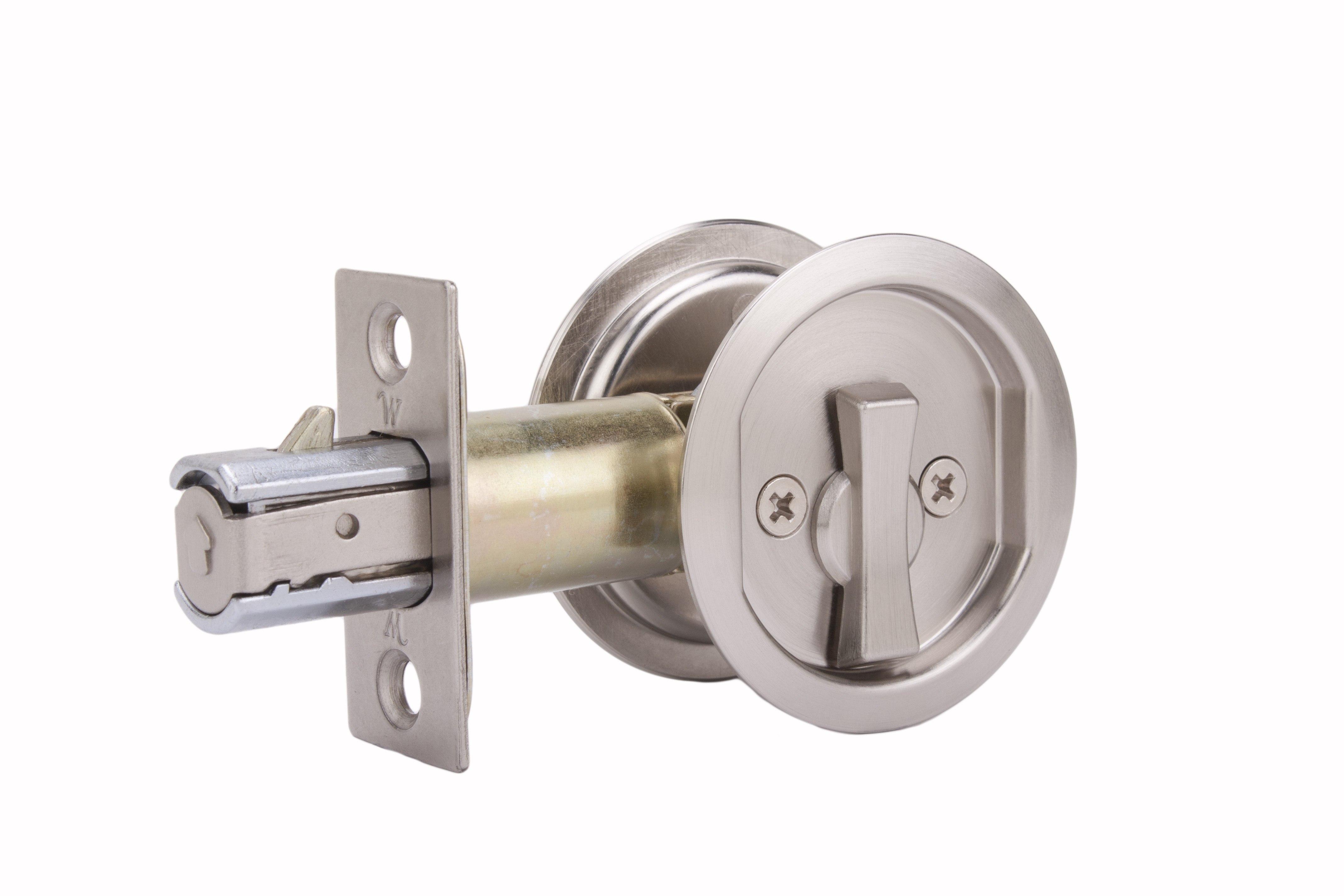 WESLOCK 00677X ROUND PRIVACY SLIDING POCKET DOOR LOCK