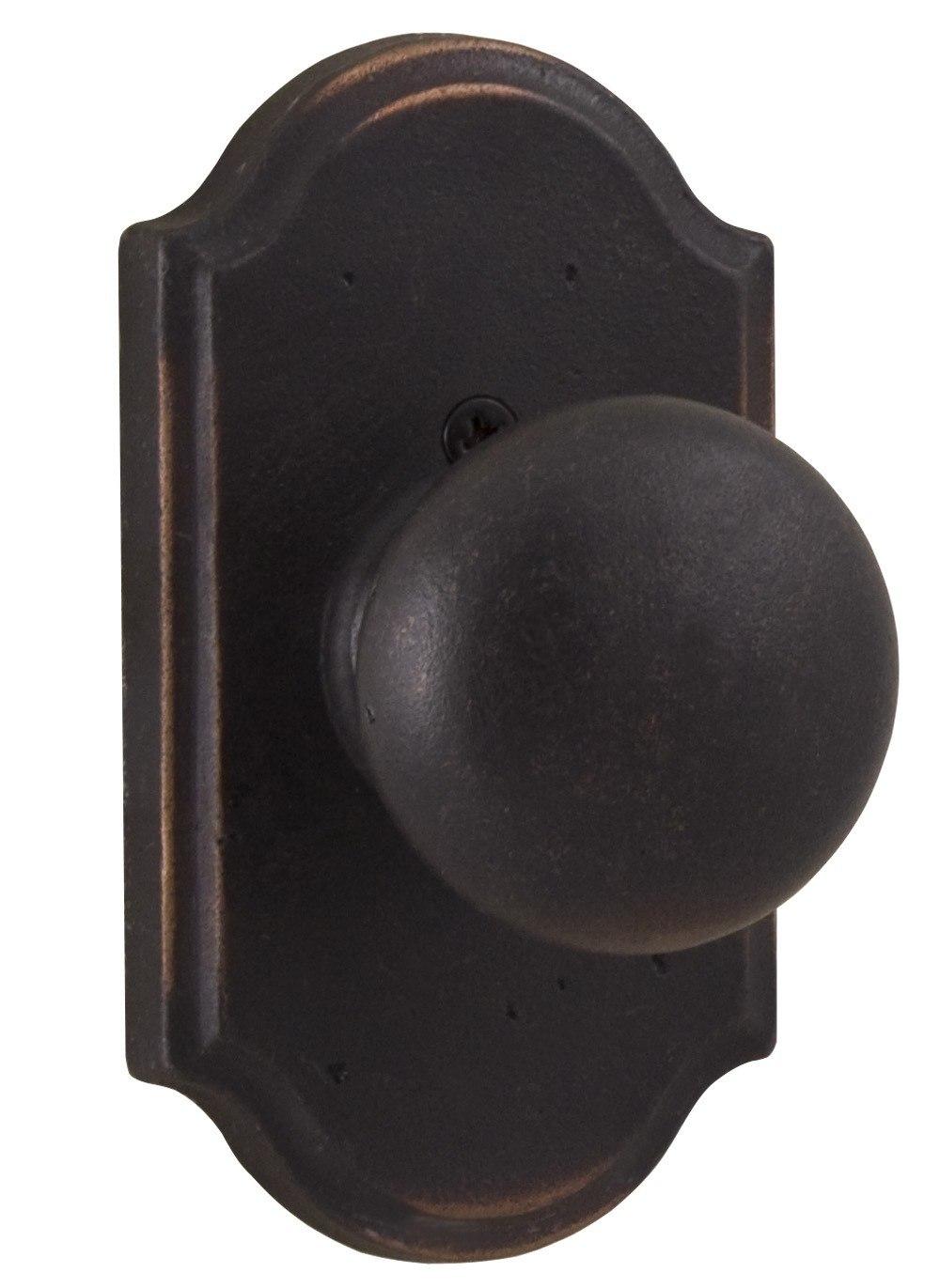 WESLOCK 07105F MOLTEN BRONZE WEXFORD SINGLE DUMMY DOOR KNOB WITH PREMIER ROSETTE