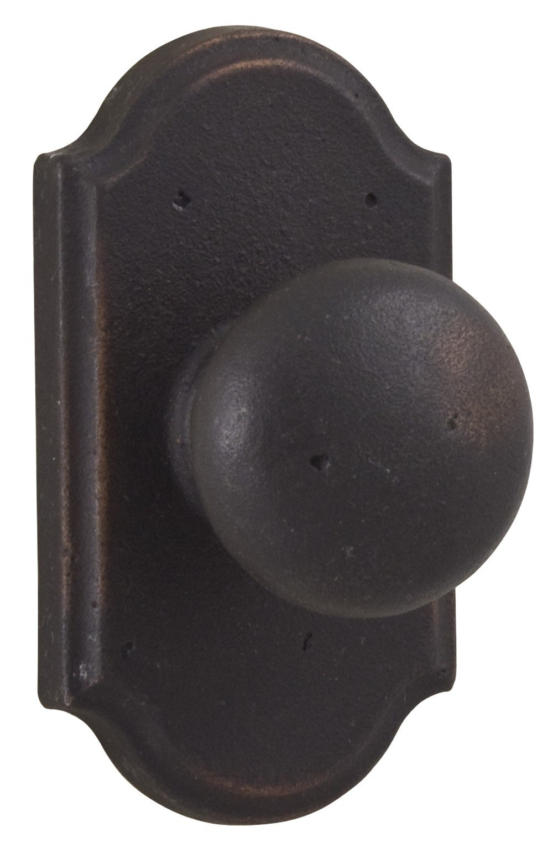 Weslock 07110F Molten Bronze Wexford Privacy Door Knob with Premier Rosette