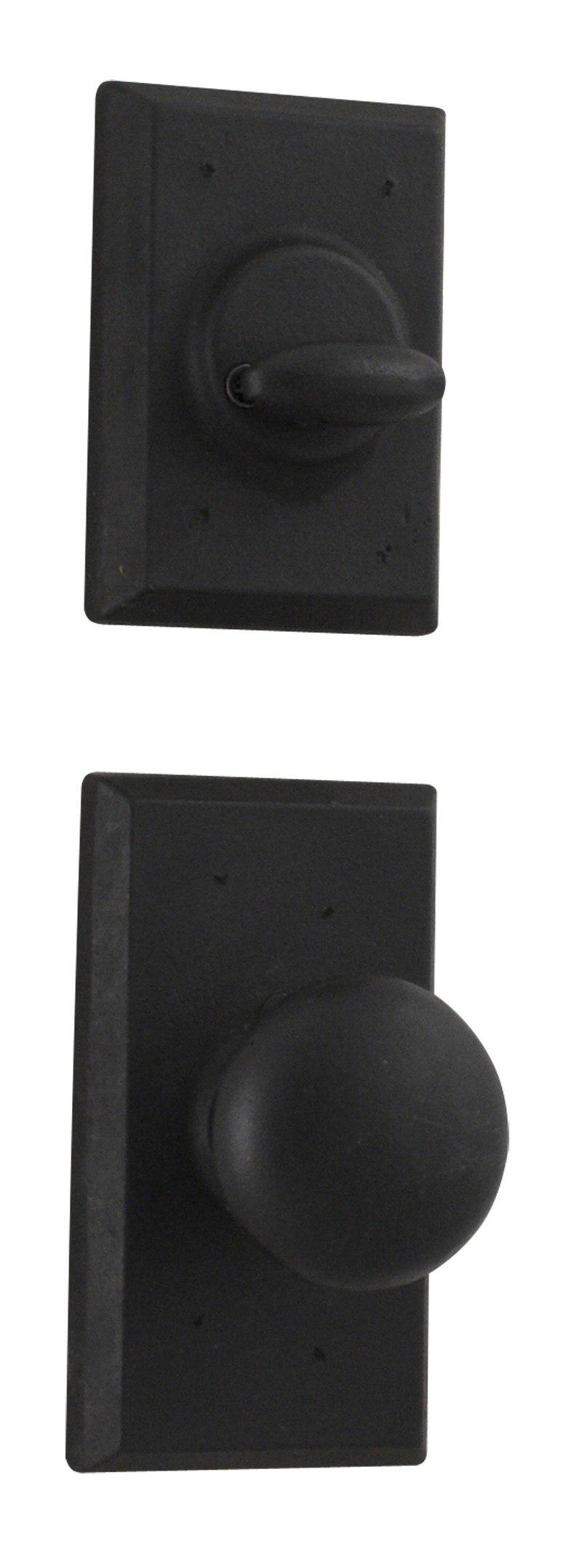 WESLOCK 07800--F MOLTEN BRONZE SINGLE CYLINDER INTERIOR PACK WITH WEXFORD KNOB