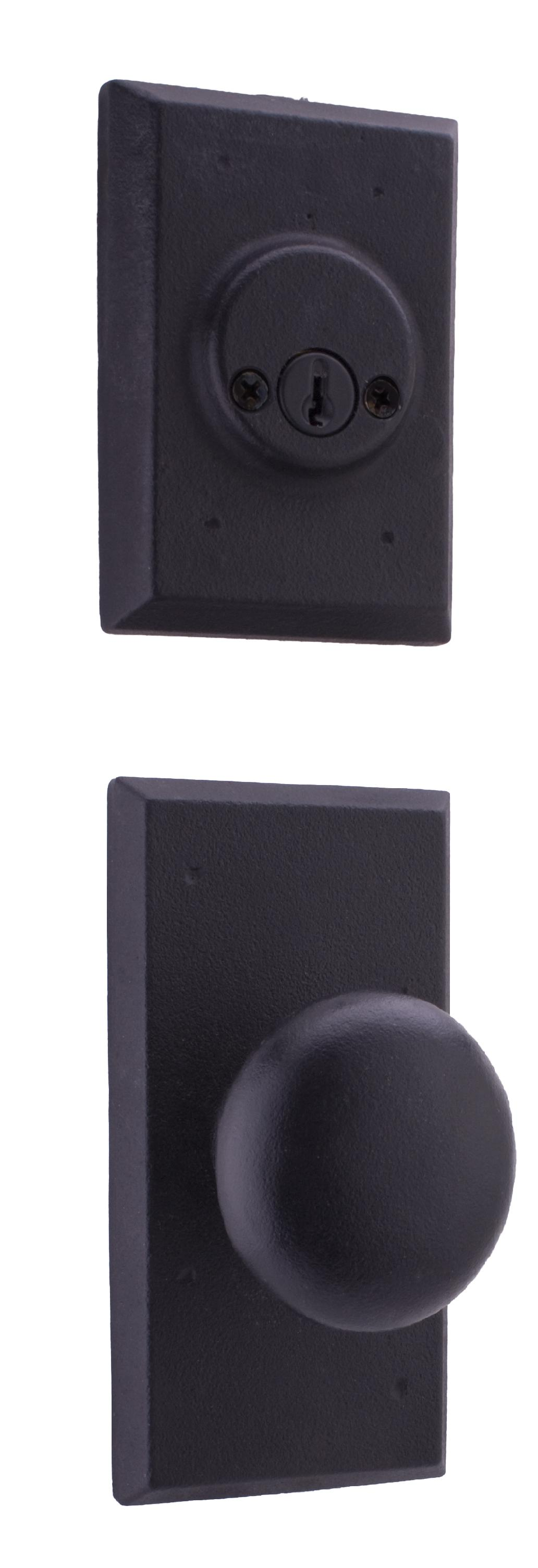 Weslock 07802--F Molten Bronze Double Cylinder Interior Pack with Wexford Knob