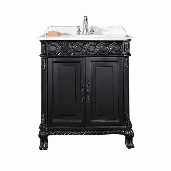 30 inch black bathroom vanity. ove decor 15vva-tren30-031af trent 30 inch vanity in antique black bathroom