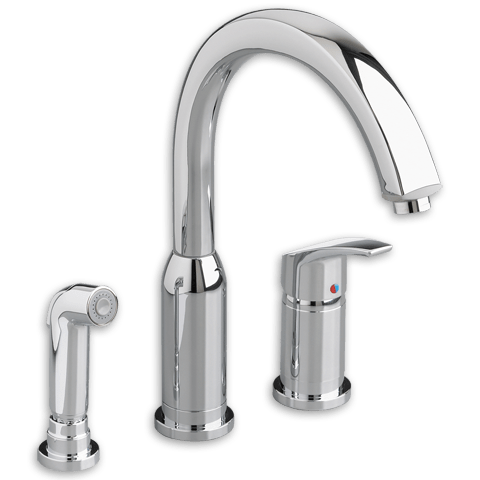 American Standard 4101.301.F15 Arch 1-Handle High Arc Kitchen Faucet with Side Spray 1.5 GPM/5.7 L/min. Maximum Flow Rate