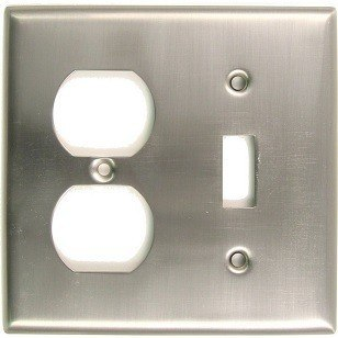 RUSTICWARE 791 DOUBLE SWITCH & RECEP SWITCHPLATE