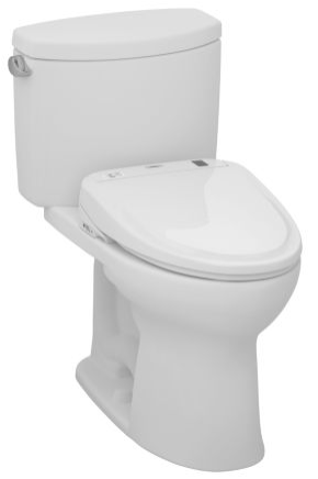 Toto MW454584CEFG#01 Drake II Connect+ S350e Two-Piece Toilet, 1.28 GPF with SanaGloss