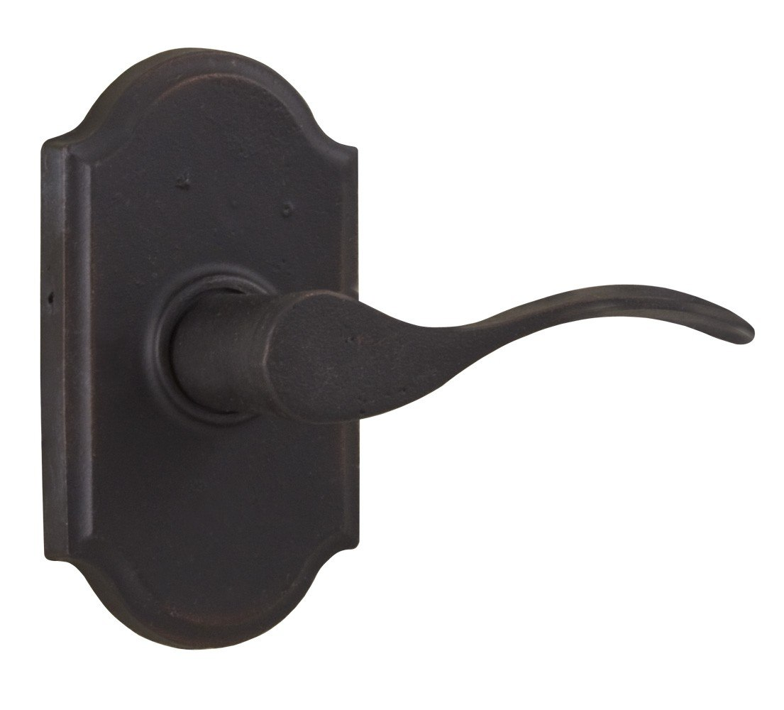 Weslock R7110H Molten Bronze Carlow Right Hand Privacy Door Lever Set with Premier Rosette