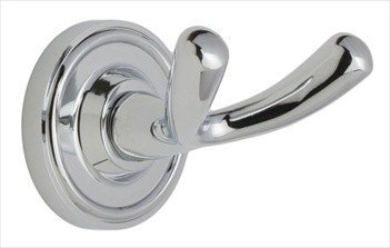WESLOCK 9601 ROUND RIPPLNG BACK PLATE DUAL ROBE HOOK