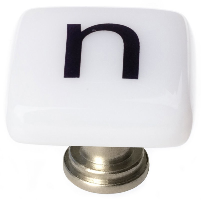 Sietto K-1113 New Vintage Letter N 1-1/4 Inch Square Cabinet Knob